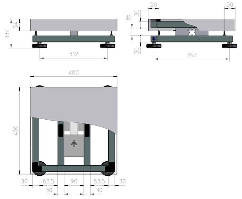 Plattformwaage-TP4040