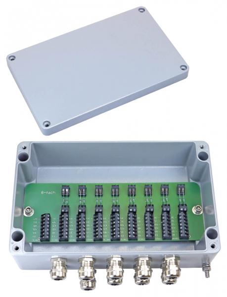 Klemmkasten JBO-08 für 8 Wägezellen mit Festwiederstand