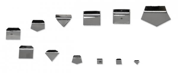 E2 Milligrammgewicht, Plättchenform, Aluminium / Neusilber