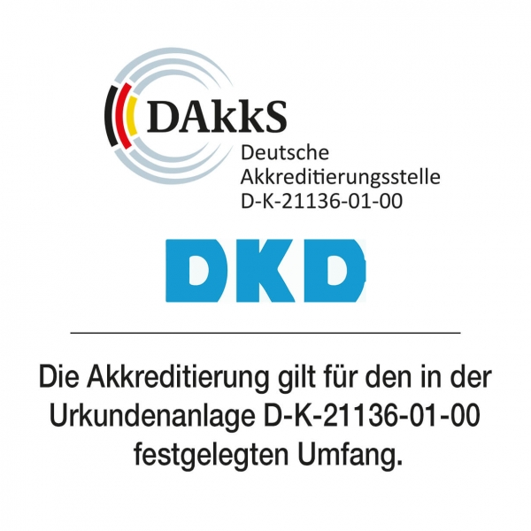 DakkS-Kalibrierschein für Industriewaagen > 5 kg - 50 kg