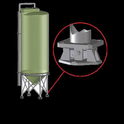 Flache Module zur Siloverwiegung GFK Silos