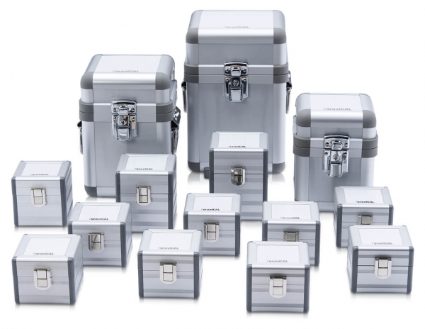 Gepolstertes Aluminiumkoffer für Prüfgewichte