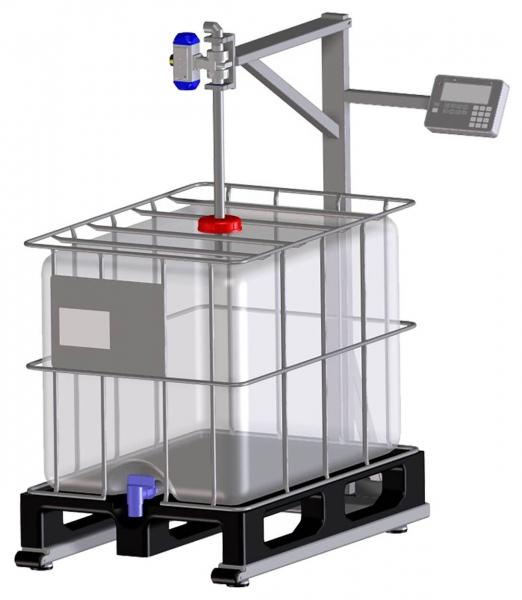 Gravimetrische Abfüllanlage für IBC-Container