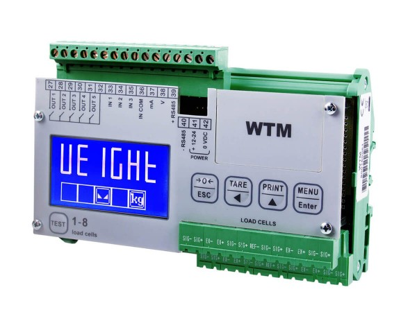Transmitter WTM für Wägeapplikationen mit 8 Kanälen