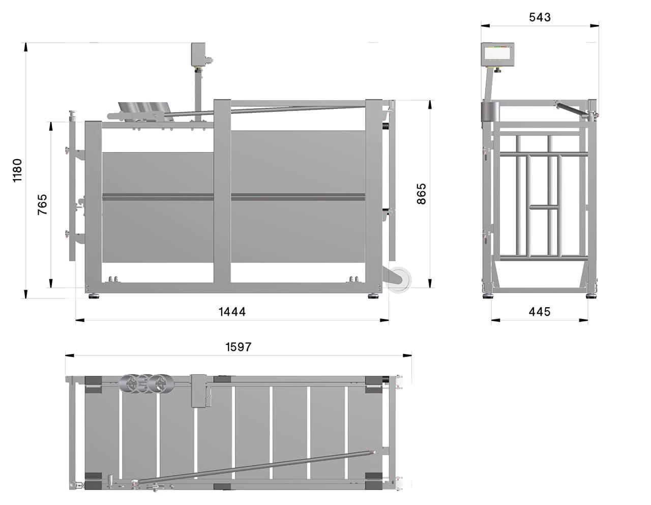 Schweinewaage-aus-Aluminium-Zeichnung