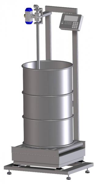 Gravimetrische Abfüllanlage für Fässer