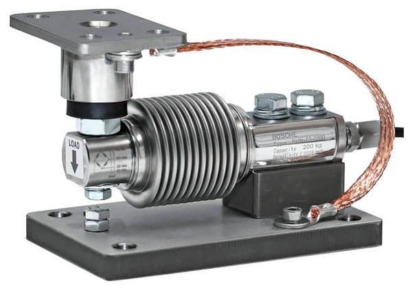 Lastecke für Faltenbalg-Wägezellen mit Elastomer Krafteinleitung