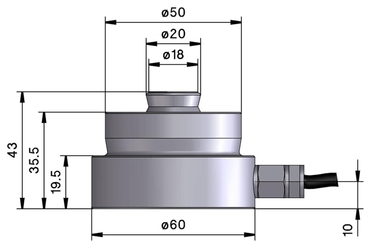 Druckkraftwaegezelle_V51S_Zeichnung