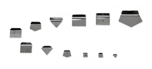 E2 miligramové závažia, tvar doštičiek, hliník / nikel striebro