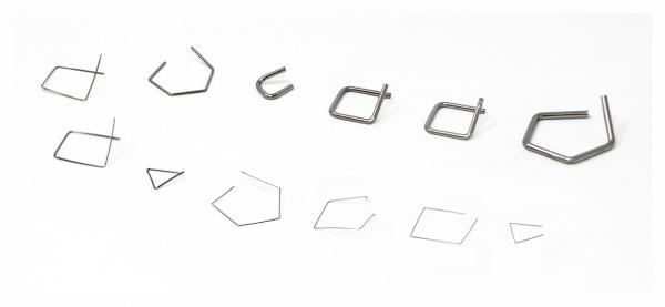 E1 miligramové závažia, drôtová forma, nehrdzavejúca oceľ